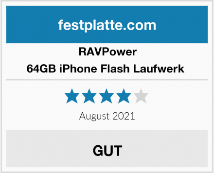 RAVPower 64GB iPhone Flash Laufwerk  Test