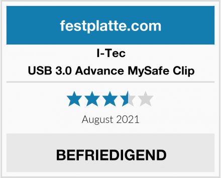 I-Tec USB 3.0 Advance MySafe Clip Test