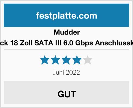 Mudder 5 Stück 18 Zoll SATA III 6.0 Gbps Anschlusskabel  Test
