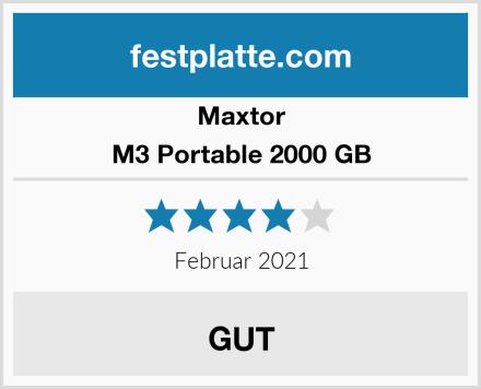 Maxtor M3 Portable 2000 GB Test