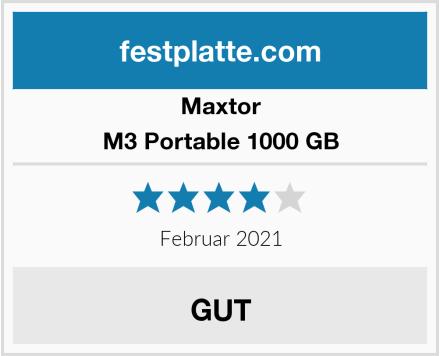 Maxtor M3 Portable 1000 GB Test