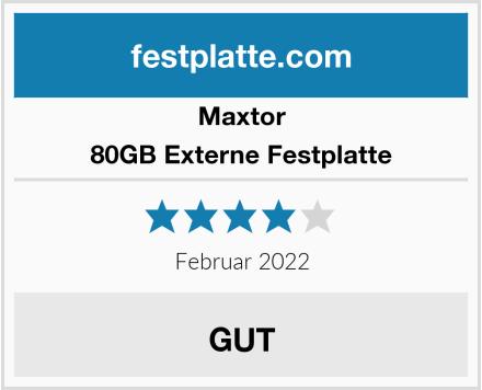 Maxtor 80GB Externe Festplatte  Test