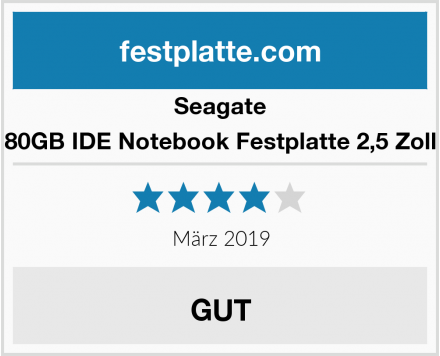 Seagate 80GB IDE Notebook Festplatte 2,5 Zoll Test