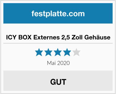 ICY BOX Externes 2,5 Zoll Gehäuse Test