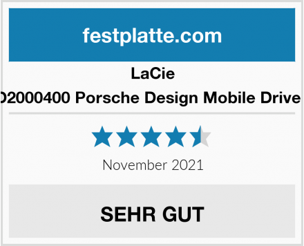 LaCie STFD2000400 Porsche Design Mobile Drive 2 TB Test