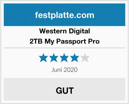 Western Digital 2TB My Passport Pro Test