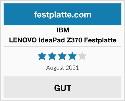 IBM LENOVO IdeaPad Z370 Festplatte Test