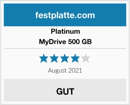 Platinum MyDrive 500 GB Test