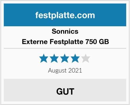 Sonnics Externe Festplatte 750 GB Test