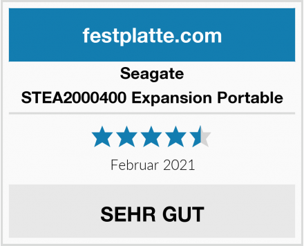 Seagate STEA2000400 Expansion Portable Test