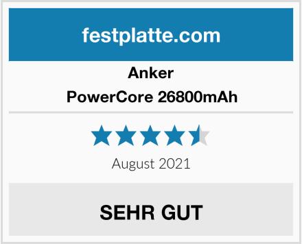 Anker PowerCore 26800mAh Test